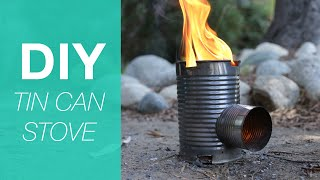 Make A Camping Stove From Tin Cans