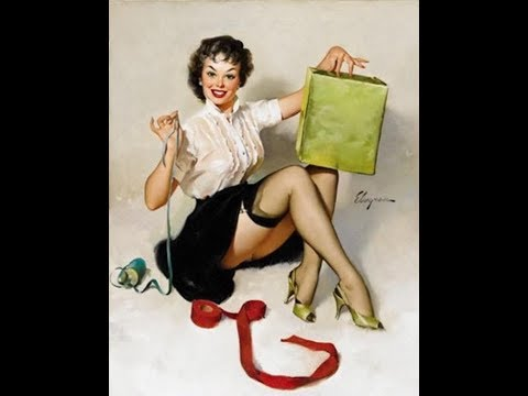 Vintage Pin-up Girls Art...and Behind The Scenes(Gil Elvgren-Mostly Janet Rae)