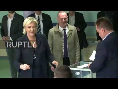 France: Le Pen casts vote in first round of presidential elections