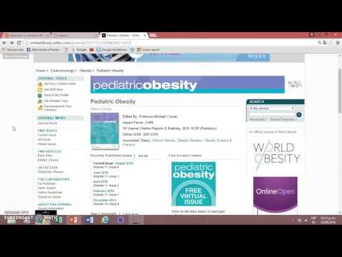 Journal  Advances in Nutrition and Pediatric Obesity