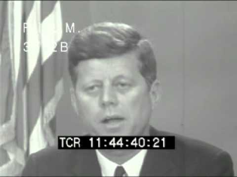 JFK Civil Rights Act Announcement (stock footage / archival footage)