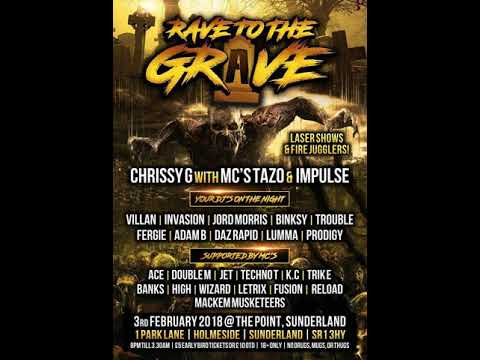 DJ Trouble Mc Techno-T Mc Jet @ Rave To The Grave 3.2.2018
