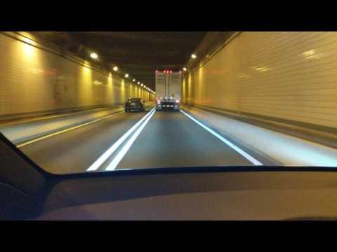 My Self Driving AutoPilot Tesla goes thru Allegheny Mountain Tunnel in Pennsylvania!