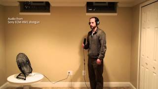 Shure SM-93 lavalier microphone wind test 2