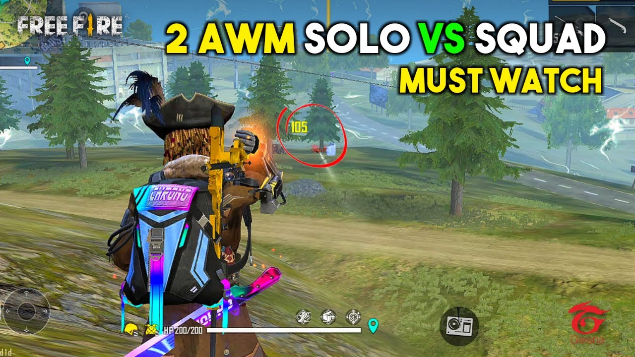 Unbelievable Solo vs Squad 2 AWM Ajjubhai94 OverPower Gameplay - Garena Free Fire