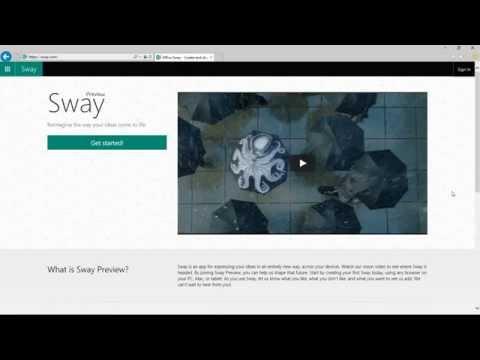 สาธิตการสร้างแฟ้มสะสมงาน Portfolio Online ด้วย Sway