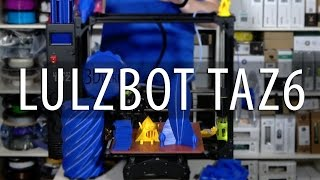 Lulzbot TAZ6 3D Printer Review (Finally!)(I'm now able to finalize my review of the Lulzbot TAZ6 3d printer, and WOW. The Lulzbot TAZ6 performs extremely well, and it's supported well from a great ..., 2017-03-09T17:00:07.000Z)