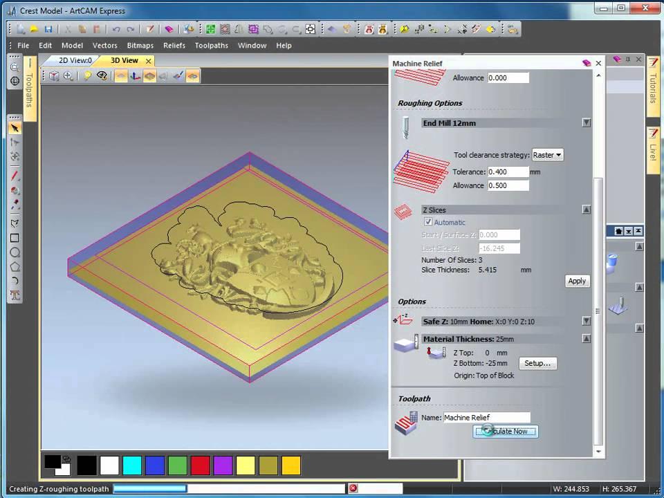 ArtCAM 2010 Free Trial - Machining a 3D Crest | ArtCAM
