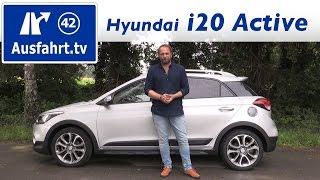 2016 hyundai i20 active fahrbericht der probefahrt test review