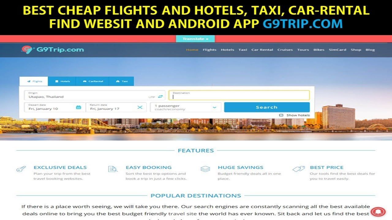 Which Travel Site To Use To Book Flights And Hotel Best Website And App For Cheap Flights And Hotels Youtube