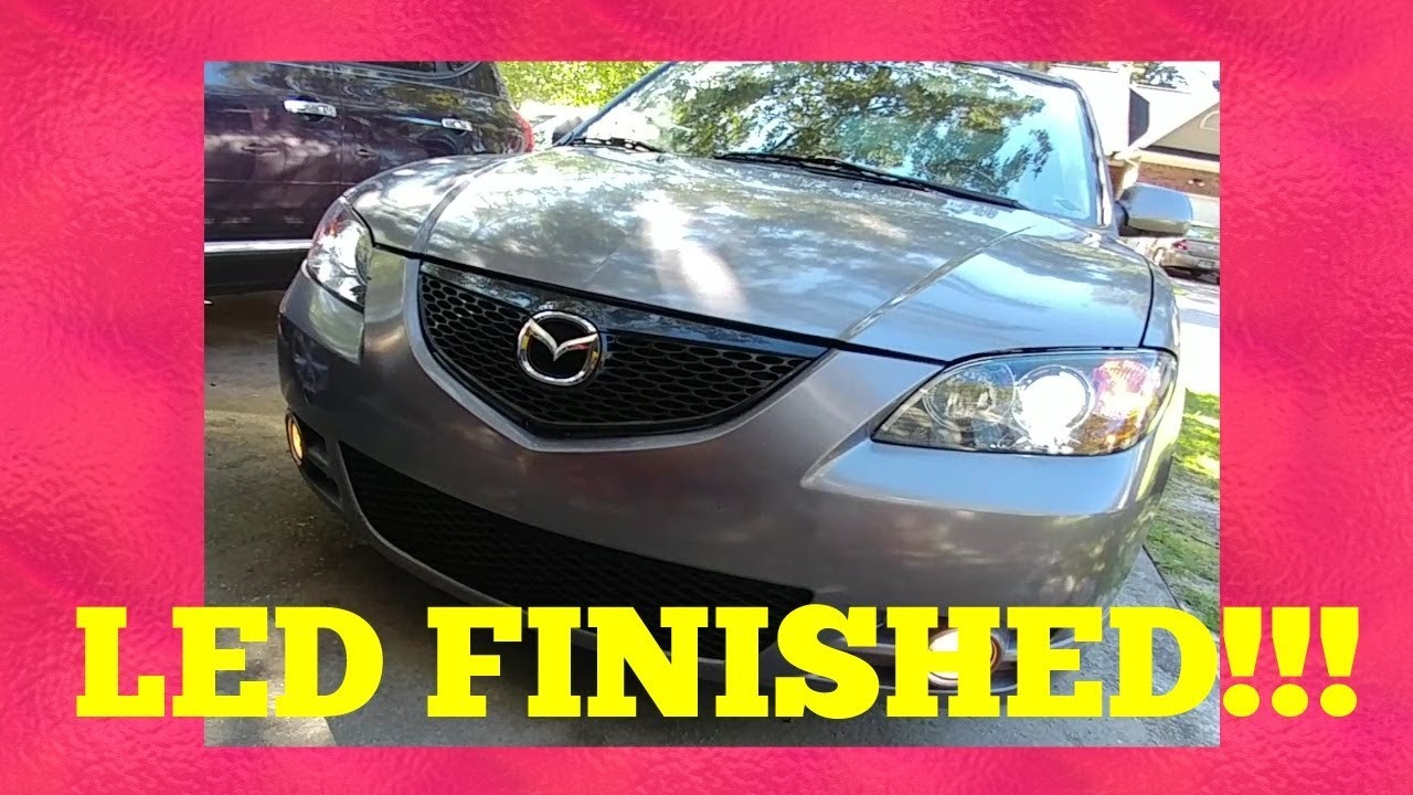 04 09 Mazda 3 Halogen To Led Completed Headlights Vid 4