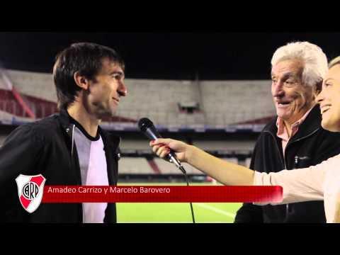 Amadeo Carrizo y Marcelo Barovero, en la previa del homenaje
