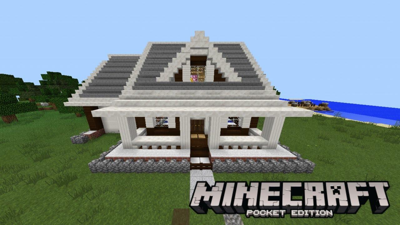 Mapa de casa moderna minecraft pe youtube for Casa moderna en minecraft pe 0 16 0