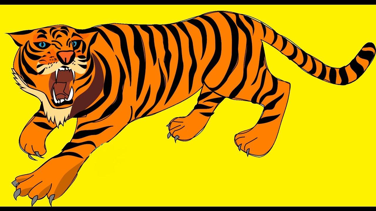 - El Tigre Sus Sonidos Y Vídeo Animado