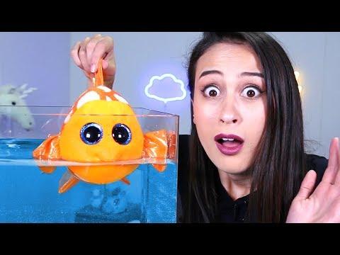 WAT GEBEURT ER ALS JE EEN BEANIE BOO IN WATER GOOIT? || Nieuwe serie