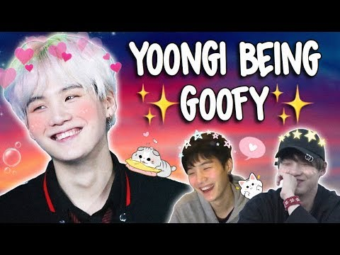 a video to remind u of how goofy yoongi really is
