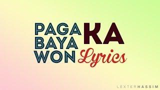 Pagabayawon Ka (Oh akong Ginoo) Lyrics
