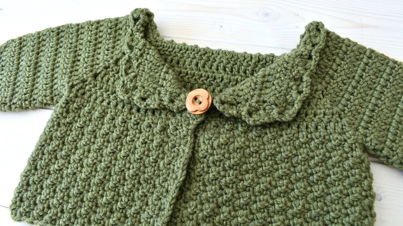 5dfb37320c6f How to crochet a warm children s sweater   cardigan - The Olive ...