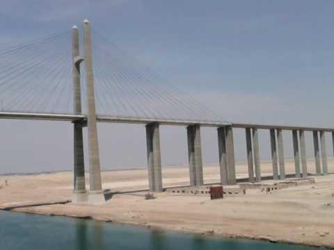 Egypt  Suez Canal  Egyptian Japanese Friendship Bridge