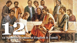 12 Apostles of Jesus in English and Tamil