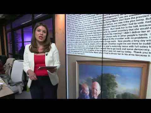 Danish MP told to remove daughter from parliament | #TheCube
