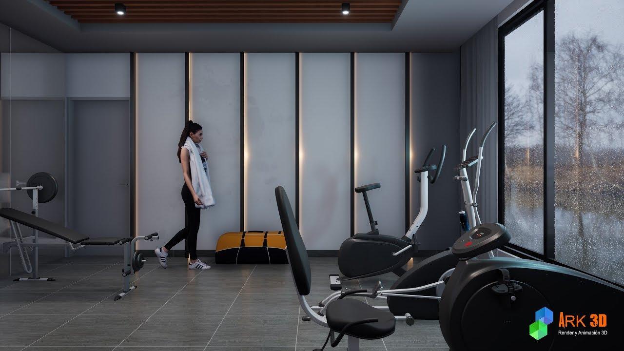Twinmotion 2019 - Gym 3d Animation
