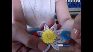 Neşeli Quilling Püskül Çiçek Yapımı - Fringe Flower