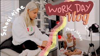 Online Summer School + Work Day Vlog| Ella Elbells