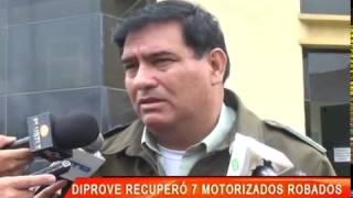 DIPROVE RECUPERÓ 7 MOTORIZADOS ROBADOS