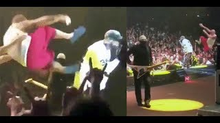 Shaggy 2 Dope of ICP attempts to drop kick Fred Durst of Limp Bizkit