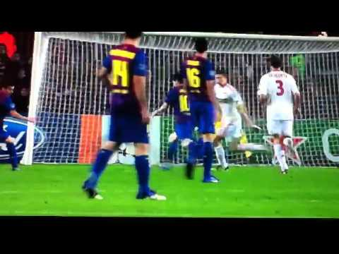 Barça - Bayer Leverkusen 5' Gol de Messi 7-0 champions Leag