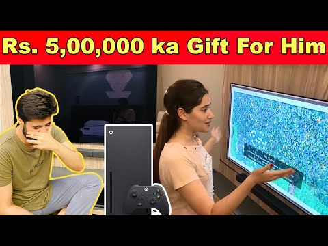 SURPRISED HIM With his Dream HOME THEATRE SETUP *His Reaction*