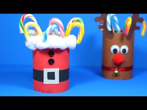 how-to-make-a-santa-candy-holder-|-christmas-crafts-for-kids