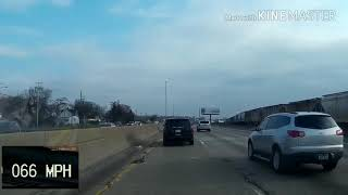 Slow driver in the left lane gets pulled over
