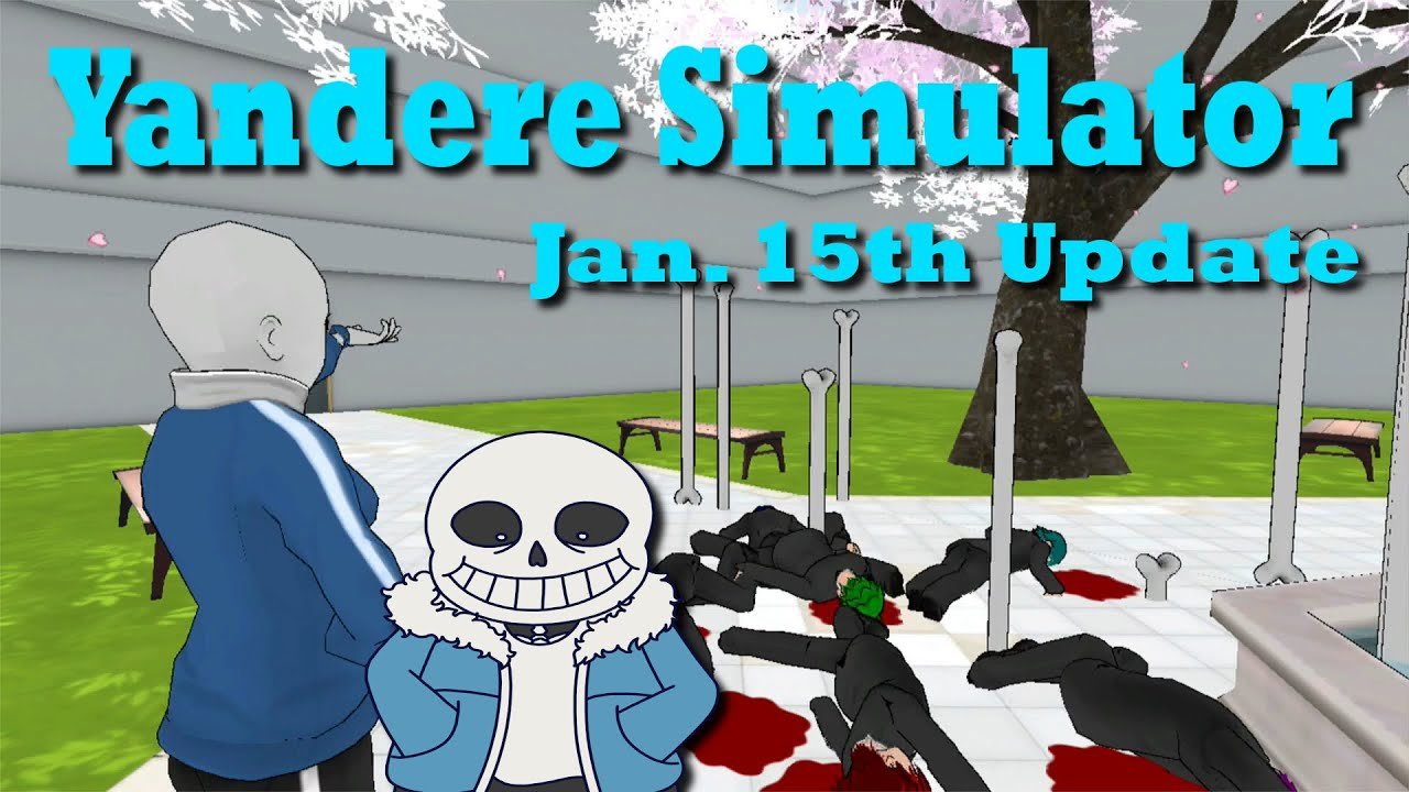 How to install sans undertale skin download sans undertale skin - New Sans Skin W Secret Easter Eggs Yandere Simulator January 15th Update Youtube