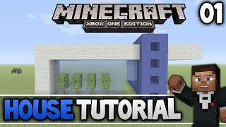 Minecraft Xbox one/Xbox 360 Simple Modern House Tutorial Part 1