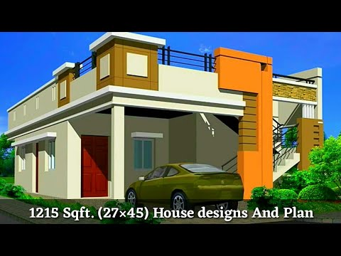 27 45 House Plan 27 45 घर क नक श Front Elevation
