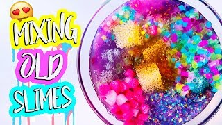 Mixing All My Clear Slime Together! Slime Smoothie! Most Satisfying Slime Videos