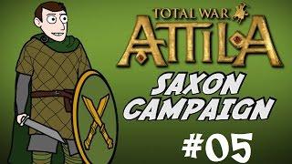 Total War: Attila - Saxon Campaign Gameplay - Part 5 - Poxy Franks!