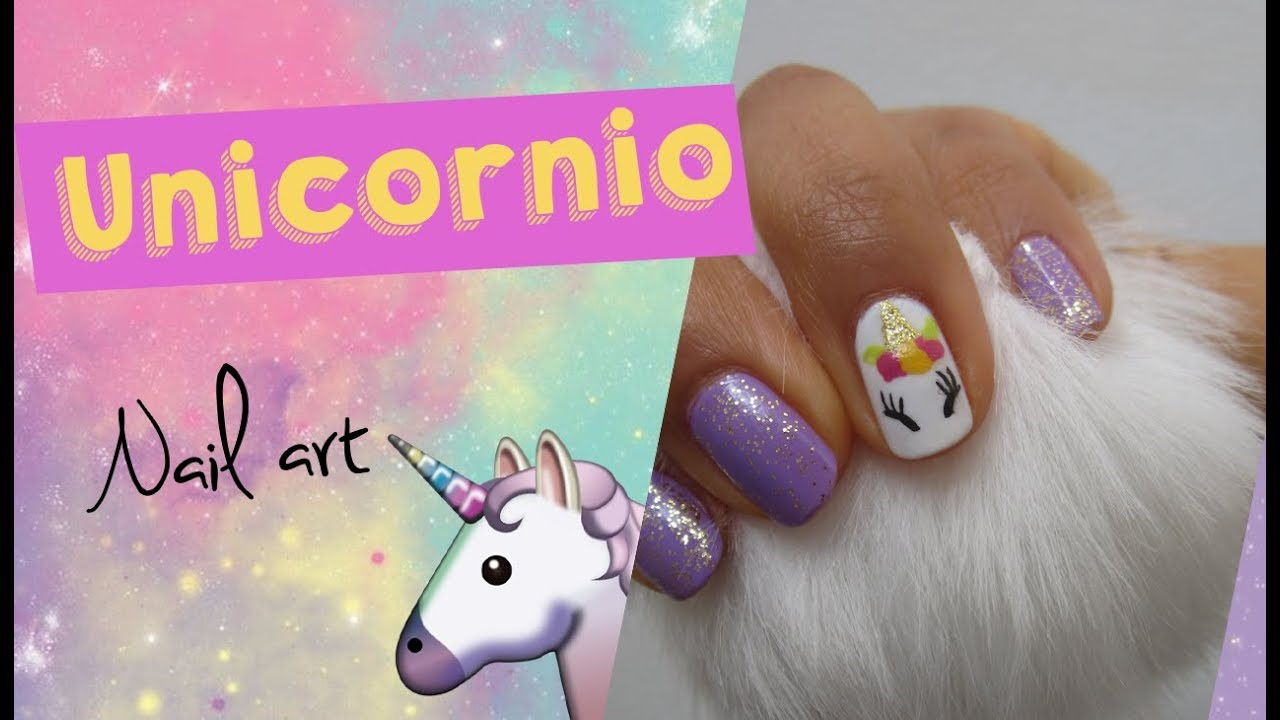 Uñas de unicornio super fácil - YouTube