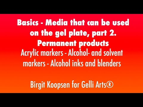 Basics: Media That Can Be Used On The Gelli Arts® Plate - Part 2