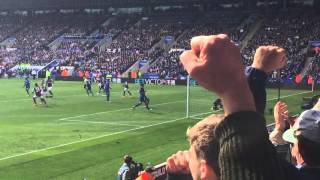 Leicester v West Ham Andy Carroll's penalty