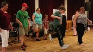 Beaudoin Family teaching Quebecois style step dancing