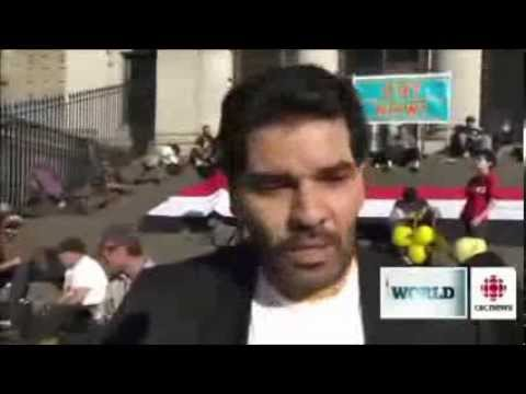 January 25th 2014 - CBC Coverage of Vancouver Rally for Egypt