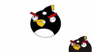 Drawing the bomb bird from Angry Birds on Paint.NET