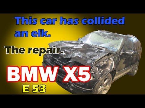 BMW X5 E53. The front end repair of the car. Ремонт переда машины.