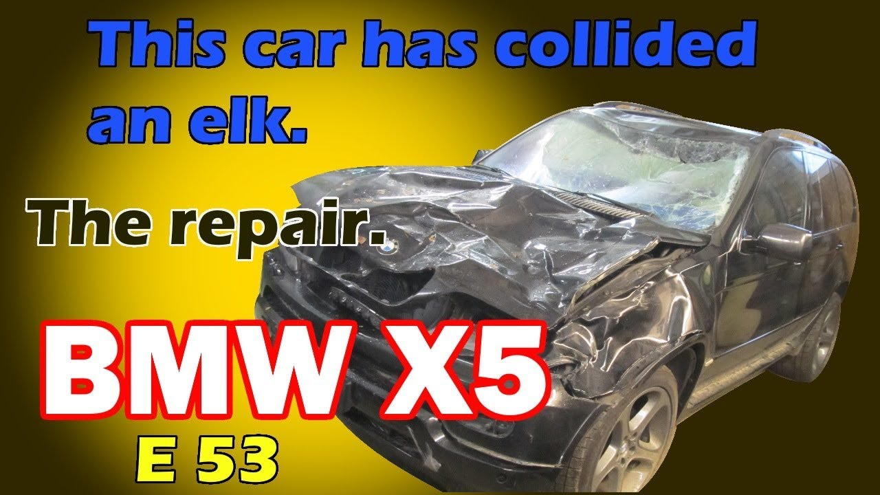 BMW X5 E53. The front end repair of the car. Ремонт переда машины.