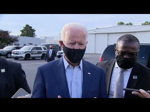 BREAKING: Joe Biden speaks to reporters about Breonna Taylor protests