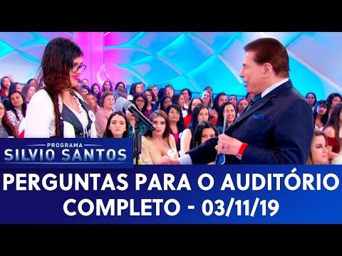 Perguntas para o auditório - Completo   Programa Silvio Santos (03/11/19)