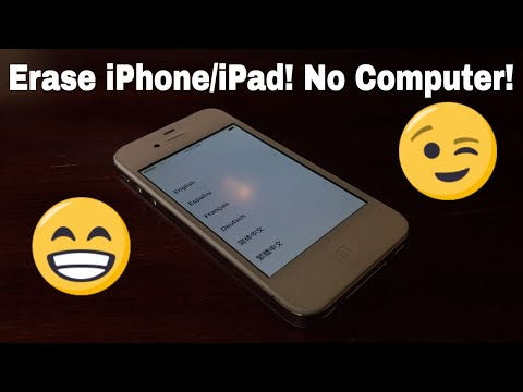 How To Erase An iPhone Or iPad! (No Computer)